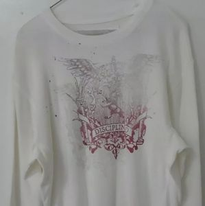 Express Mens Graphic Sweater L